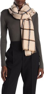 Amicale Cashmere 100% Cashmere Checkered fringe Scarf Z-268