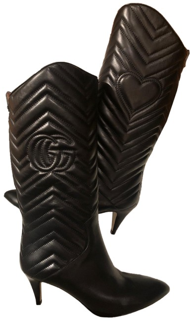 Item - Black Rare Matelasse Leather Quilted Boots/Booties Size EU 38 (Approx. US 8) Regular (M, B)