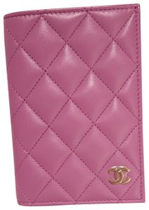 Chanel Chanel Lilac Passport Holder / Card Wallet