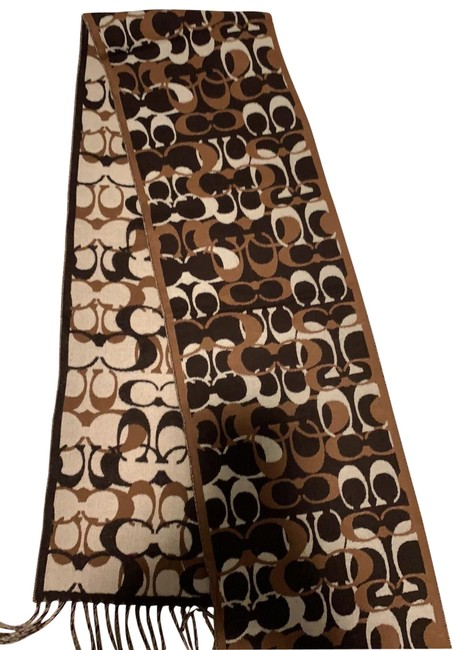 Item - Brown and White Scarf/Wrap
