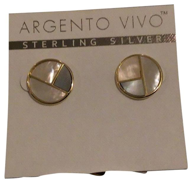 Argento Vivo Gold Tri-color Pearlized Earrings Argento Vivo Gold Tri-color Pearlized Earrings Image 1