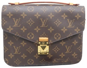 Louis Vuitton Lv Monogram Metis Canvas Satchel in brown