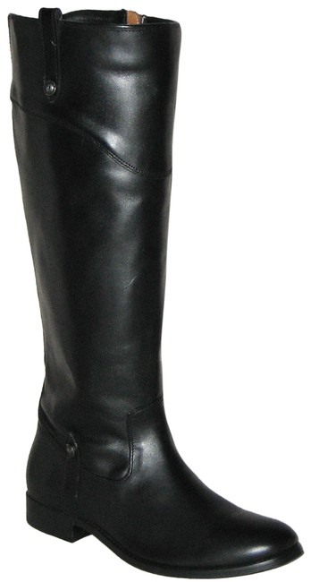 Item - Black Melissa Tab Tall Extended Calf Leather Boots/Booties Size US 9 Regular (M, B)
