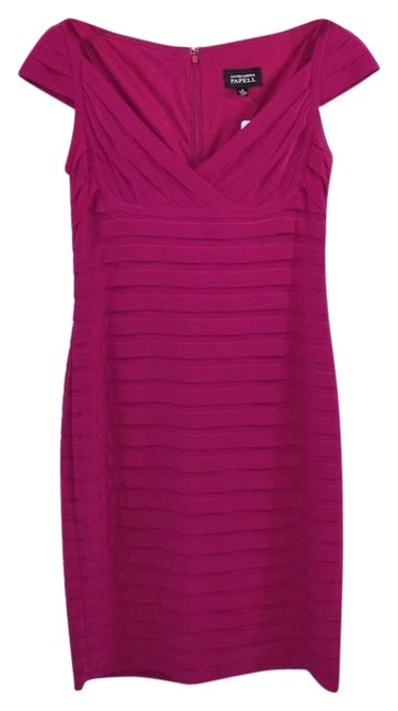 Item - Pink Pleated #178-17 Short Night Out Dress Size 8 (M)