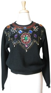 Carole Little Jeweled Evening 1990s 90s Sweater