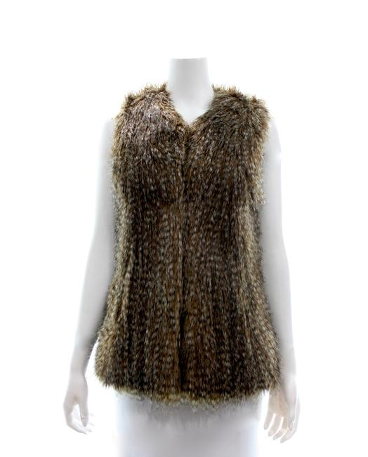 Item - Brown Faux Small Coat Size 4 (S)