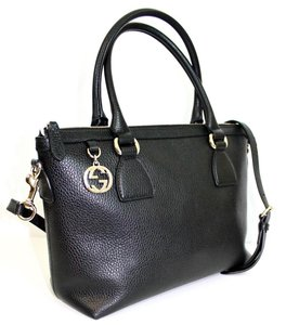 Gucci Leather Swing Tote in Black