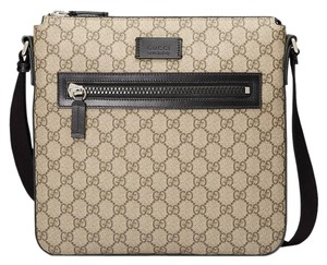Gucci Gg Supreme Monogram Messenger Cross Body Bag
