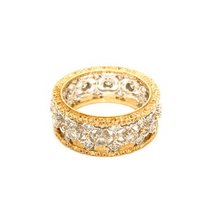 BUCCELLATI Mario Buccellati 18 Karat Yellow and White Gold Diamond Ring