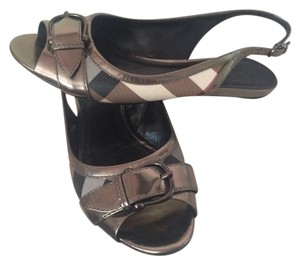 Burberry Silver Sandals