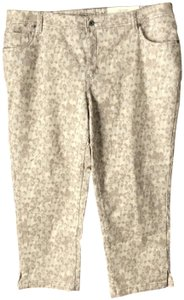 Sonoma New With Tags Modern Fit Ankle Patterned 5-pocket Style Machine Wash Straight Pants Taupe