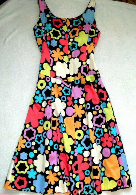 Liz Claiborne short dress Multicolored Scoop Neck Sleeveless Fit & Flare Floral Cotton on Tradesy Image 4
