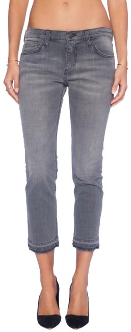 Item - Grey Cropped Style #1570-0488 Straight Leg Jeans Size 25 (2, XS)
