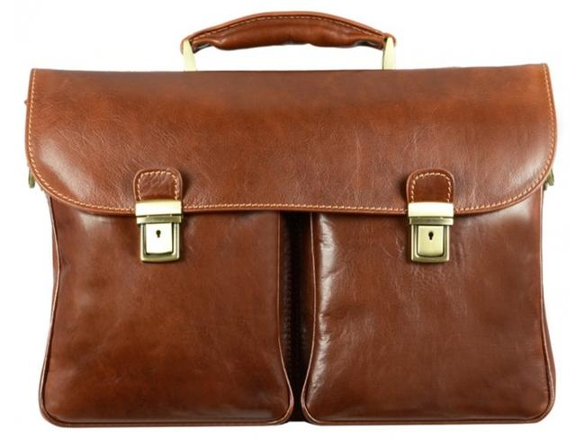 Time Resistance The In The Rye - Briefcase Brown Calfskin Leather Satchel Time Resistance The In The Rye - Briefcase Brown Calfskin Leather Satchel Image 1