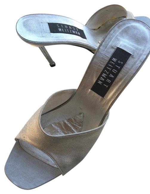 Item - Silver Sexy Cocktail/Formal Mules/Slides Size US 9 Regular (M, B)