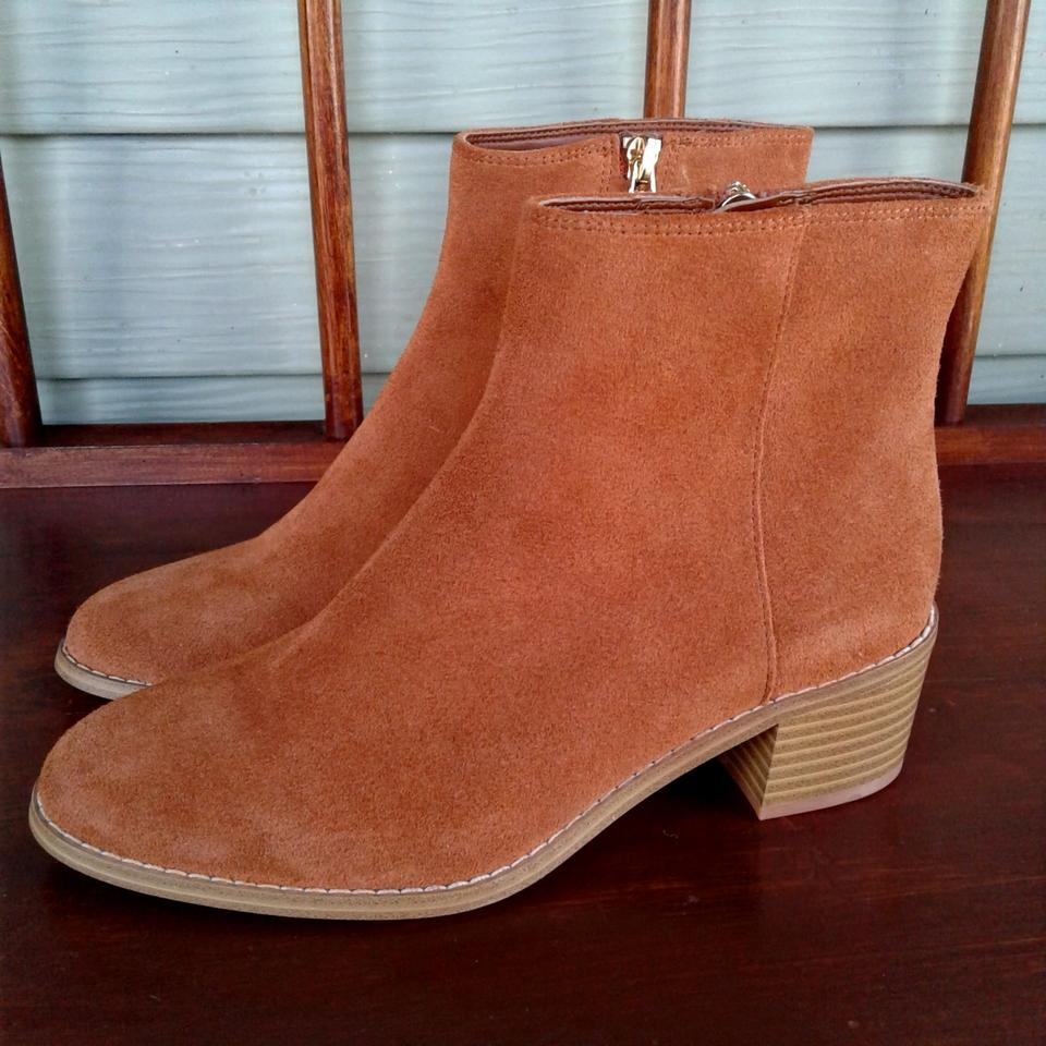 Clarks Tan Somerset Suede Leather Ankle BootsBooties Size US 5 Regular (M, B)