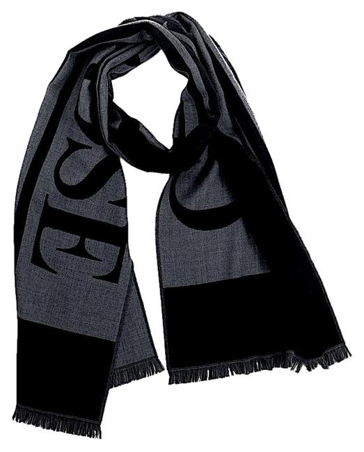 Item - Black/Grey with Tag Logo Scarf/Wrap