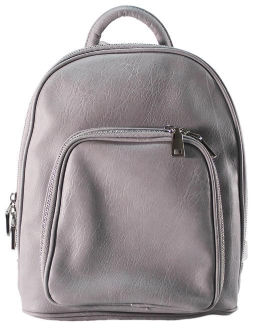 Item - Leatherbackpack Gray Faux Leather Backpack
