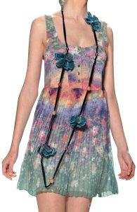 Timo Weiland short dress Green Floral Pleated Short on Tradesy