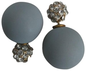 BaubleBar Baublebar | 360 Double Pearl Studs Gray/Crystal