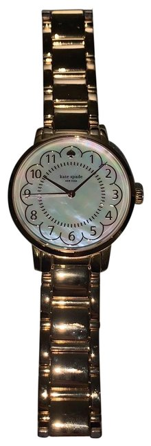 Item - Rose Gold Band Mother Of Pearl Face Metro Bracelet New York Watch