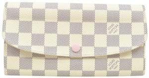 Louis Vuitton Louis Vuitton White Emilie Damier Azur Wallet