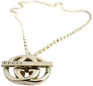 Gucci T-Bar GG Toggle Necklace