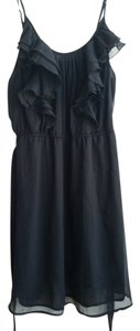 Old Navy short dress Black Cocktail Tea Ruffle Belted on Tradesy