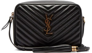 Saint Laurent Ysl Camera Quilted Cross Body Bag