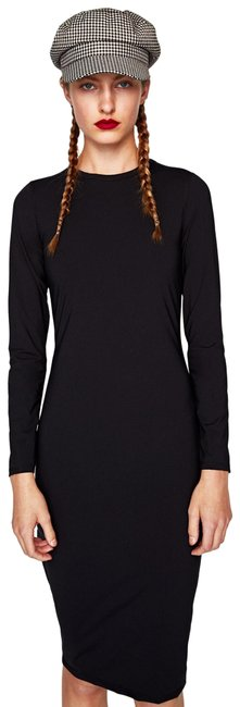 Item - Black Sheath Long Sleeves Mid-length Work/Office Dress Size 8 (M)