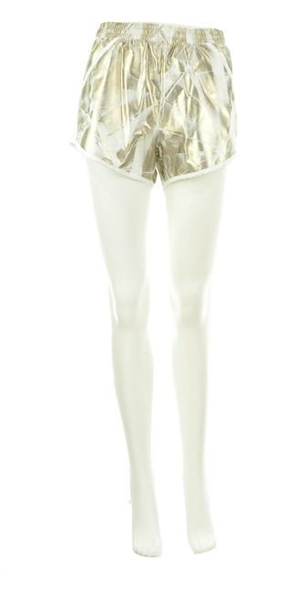 Under Armour Gold Metallic Small Shorts Size 4 (S, 27) Under Armour Gold Metallic Small Shorts Size 4 (S, 27) Image 1