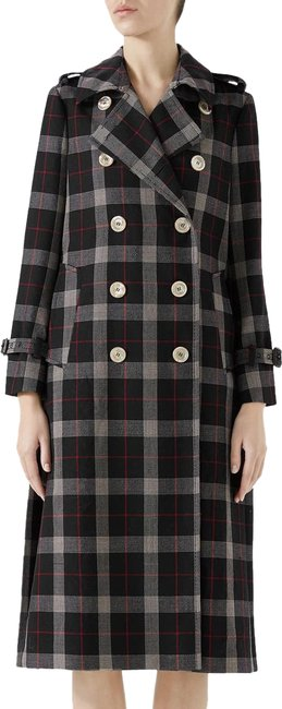Item - Ink Pleated Back Wool Plaid 2018 Winter Rare Sold-out 44 Coat Size 8 (M)