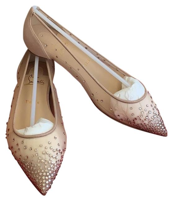 Item - Beige Glitter Follies Strass Mesh Flats Size EU 37.5 (Approx. US 7.5) Regular (M, B)