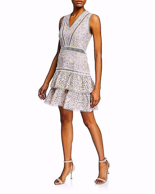 Alice + Olivia Multi with Tag Tonie Embroidered Mini Short Night Out Dress Size 8 (M) Alice + Olivia Multi with Tag Tonie Embroidered Mini Short Night Out Dress Size 8 (M) Image 1