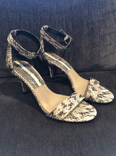 Item - Gray and Ivory Suri Snakeskin Sandals Size EU 37 (Approx. US 7) Regular (M, B)