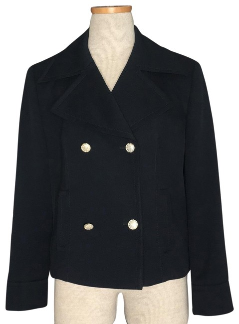 Item - Blue Navy Double Breasted Buttons Blazer Size 10 (M)