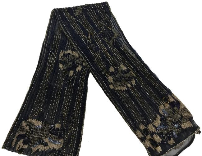Item - Navy Beaded Tulle Scarf/Wrap