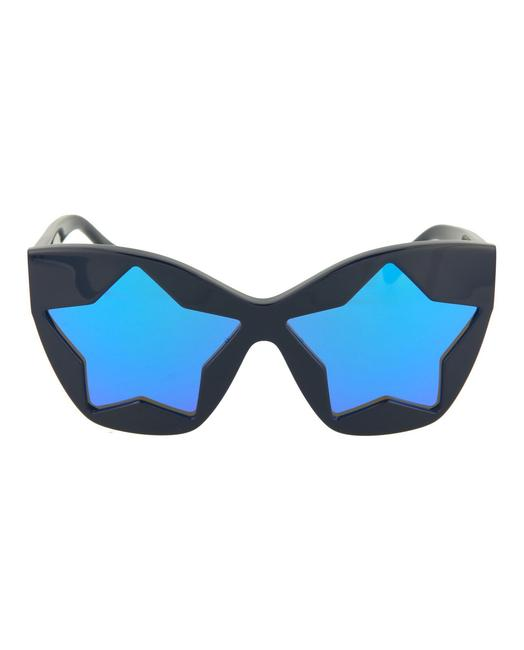 Item - Black/Blue Unisex Child Cat Eye Sk0029s Kid Glasses Sunglasses