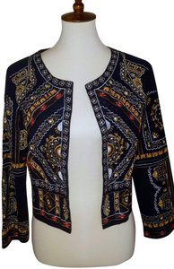 RAGA Beaded Embroidered Top Navy