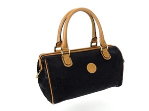 Fendi Vintage Italy Cosmetics Travel Tote in Black and Brown