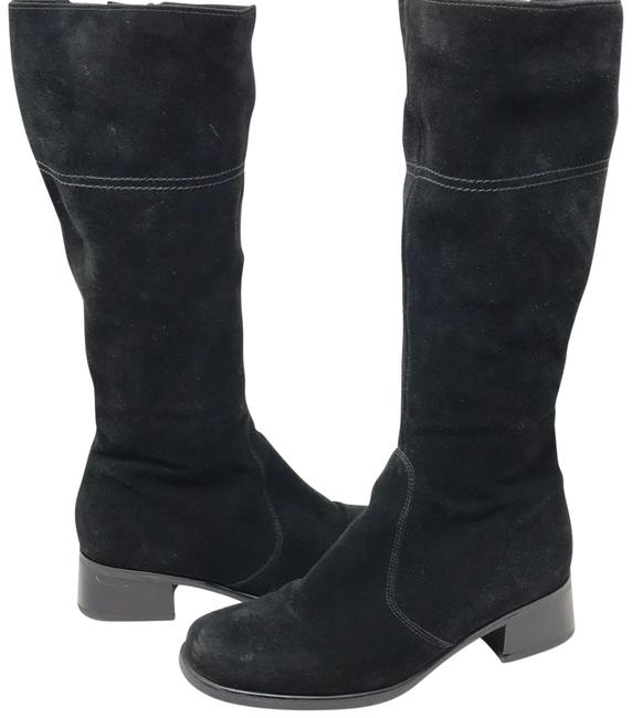 La Canadienne Black Tall Suede Boots/Booties Size US 9.5 Regular (M, B) La Canadienne Black Tall Suede Boots/Booties Size US 9.5 Regular (M, B) Image 1