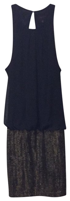 Item - Black and Gold Dropwaist Holiday Short Casual Dress Size 2 (XS)