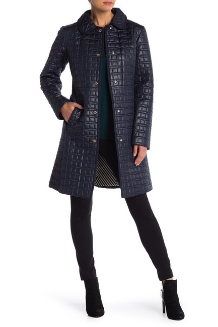 Item - Deep Navy New York Quilted Parka Coat Size 10 (M)