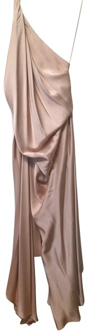 Item - Nude Silk Gown Long Formal Dress Size 8 (M)