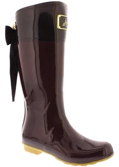 Joules Burgundy and Black Evedon Boots/Booties Size US 5 Regular (M, B) Joules Burgundy and Black Evedon Boots/Booties Size US 5 Regular (M, B) Image 1