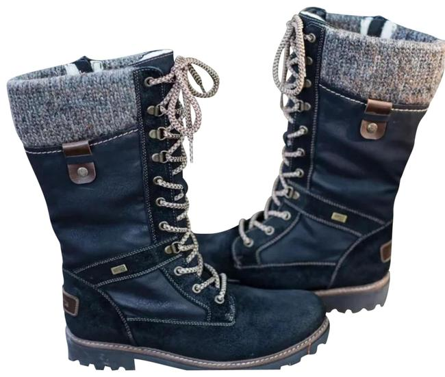 Black Women's Casual Lace-up Mid-calf