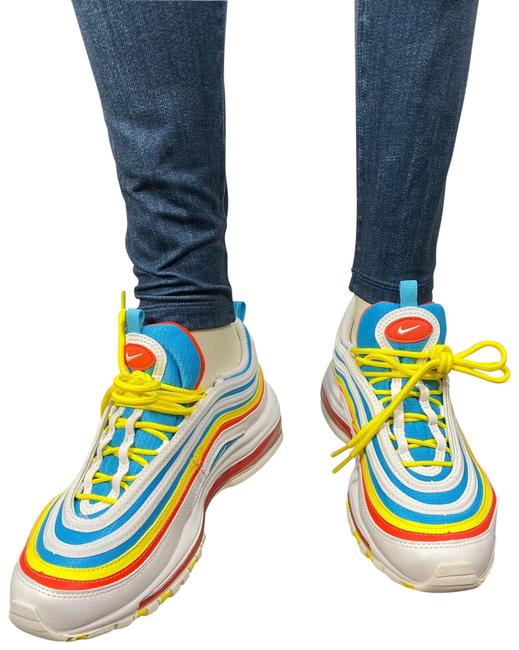 Item - White / Blue / Yellow Women Air Max 97 Summer Pack Kids 5y Women Sneakers Size US 6.5 Regular (M, B)