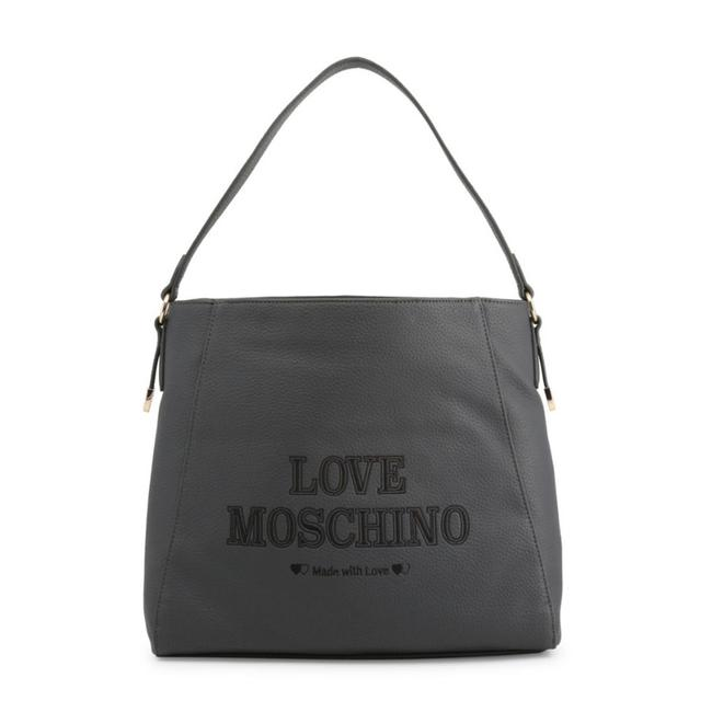 Love Moschino Grey Faux Leather Shoulder Bag Love Moschino Grey Faux Leather Shoulder Bag Image 1