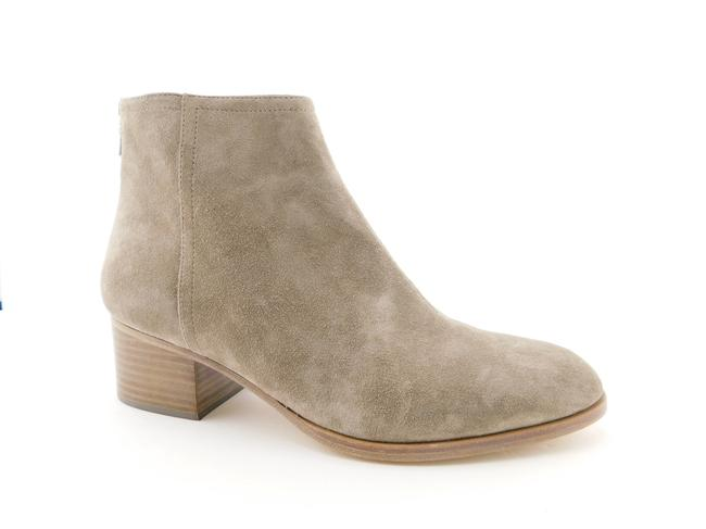 Item - Grey Suede Leather Block-heel Ankle Boots/Booties Size EU 41 (Approx. US 11) Regular (M, B)