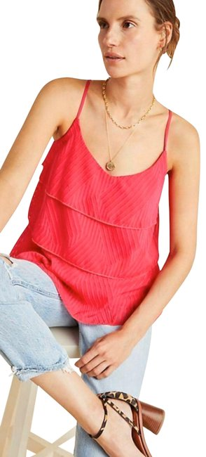 Preload https://img-static.tradesy.com/item/26489624/anthropologie-pink-ameline-tiered-tank-topcami-size-8-m-0-1-650-650.jpg